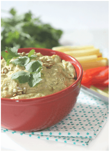 #EatLean2015 Day 7: Roasted Lemon and Garlic Hummus with Cilantro