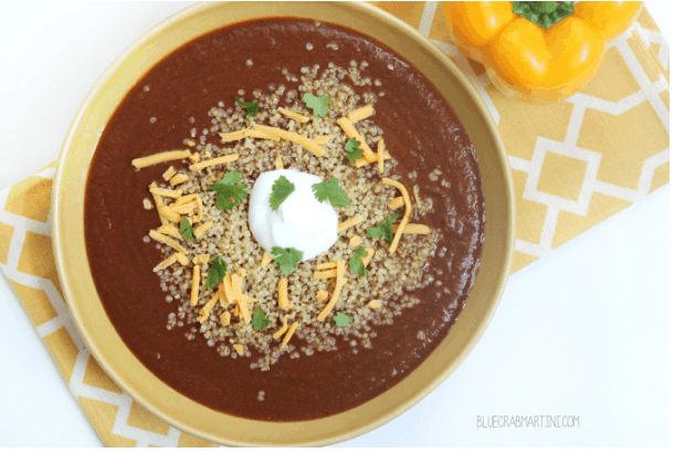 #EatLean2015 Day 1: Black Bean & Quinoa Crock Pot Soup
