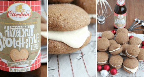Gingerbread Ale Cookie Sandwiches with Eggnog Cream