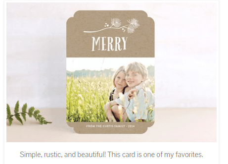 11 Weeks of Wonder #1- Picking the Perfect Holiday Card!