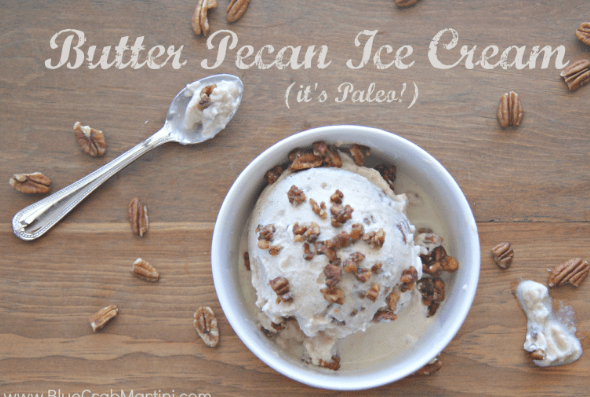 Butter Pecan Ice Cream (pssst- it's Paleo!)