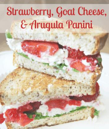 Strawberry, Goat Cheese, & Arugula Panini