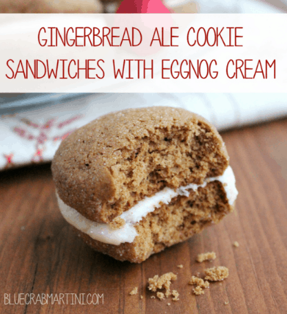 Gingerbread Ale Cookie Sandwiches with Eggnog CreamGingerbread Ale Cookie Sandwiches with Eggnog Cream